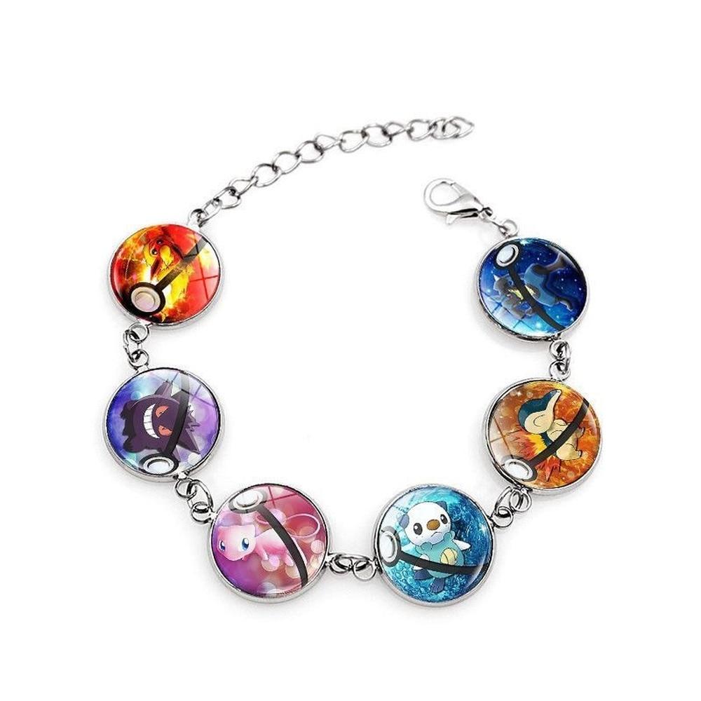 Acessórios pulseira pokemon pet elf tempo gem cristal pulseira jóias pesadelo antes do natal