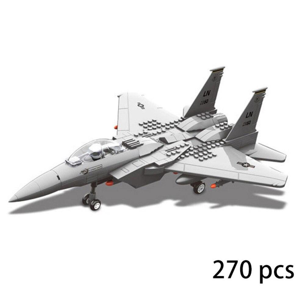 270 Uds J-15 luchador águila Morden ejército Warcraft avión militar Warplane WW2 JX005 Set DIY 3D miniaturas de bloques de construcción juguetes para niños
