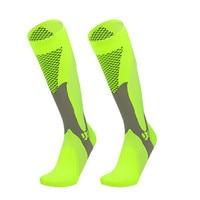 Чулки компрессионные для мужчин и женщин, дышащие, до колена, носки для тренажёрного зала, для бега, баскетбола, спорта