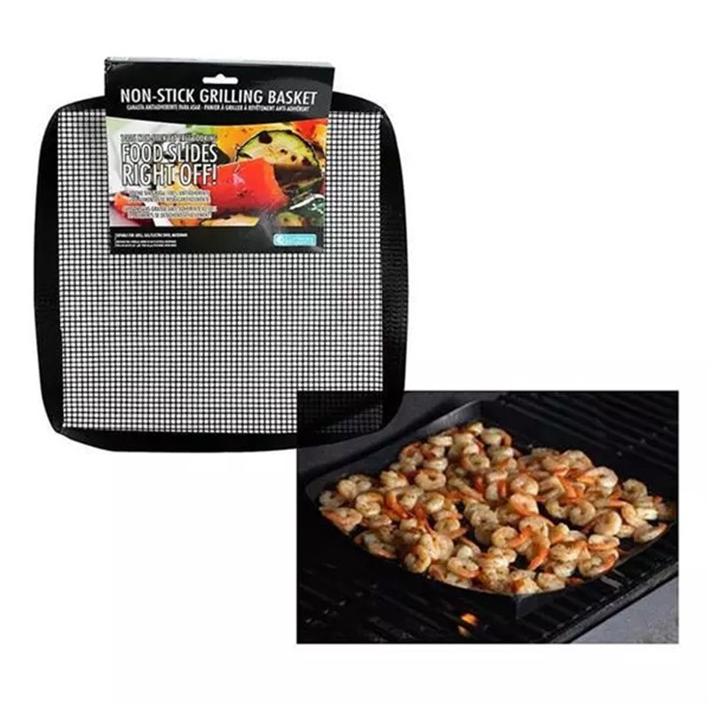 40*33cm Non-Stick Easily Cleaned BBQ Mesh Grill Mat Cooking Sheet  Barbecue Liner Roaster Tools