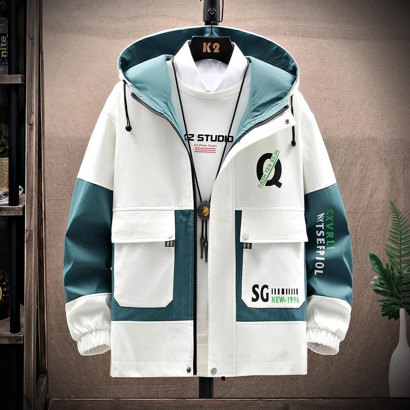الرجال سترة واقية جاكيتات الشباب كوريا طباعة الموضة معطف غير رسمي الذكور الملابس 2021 ربيع الخريف جاكيتات الرجال دروبشيبينغ