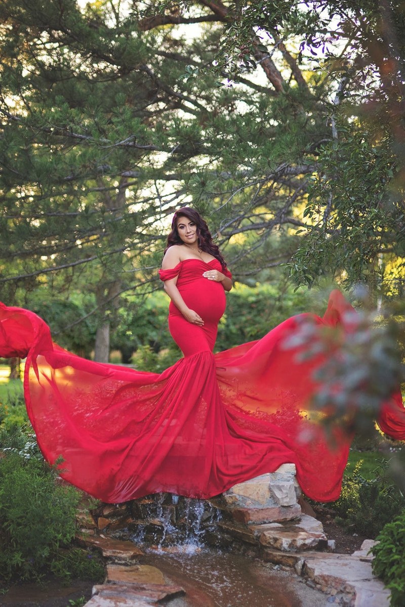 Long Maternity Photography Props Pregnancy Dress For Photo Shooting Off Shoulder Pregnant Dresses For Women Maxi Maternity Gown enlarge
