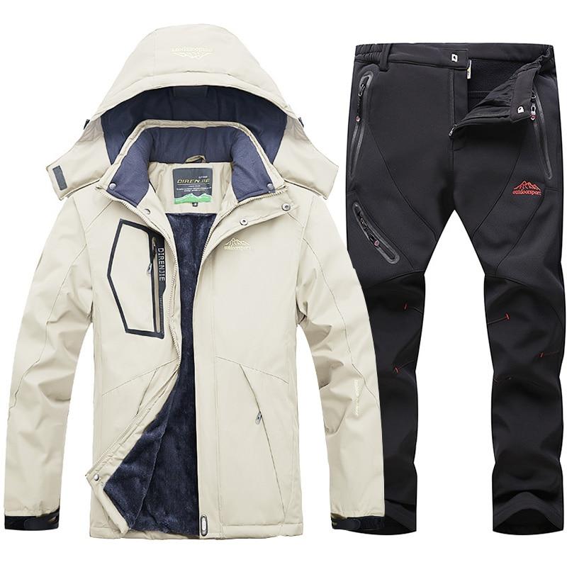 Мужские ветровки, водонепроницаемая куртка и брюки, Мужская Уличная одежда для катания на лыжах, походов, охоты, рыбалки, брюки