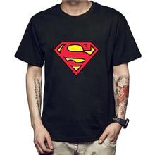 Men tshirt 100% cotton short sleeve Superman print T shirt casual top quality fashion short sleeve loose t-shirt men tee shirts