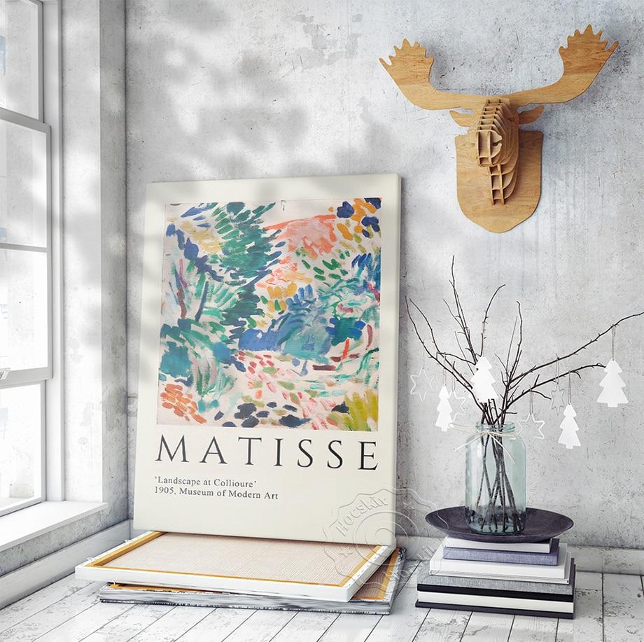 Henri Matisse Art Poster, Exhibition Print, Matisse Watercolour Prints Art, Landscape at Collioure Wall Art, Museum Wall Picture