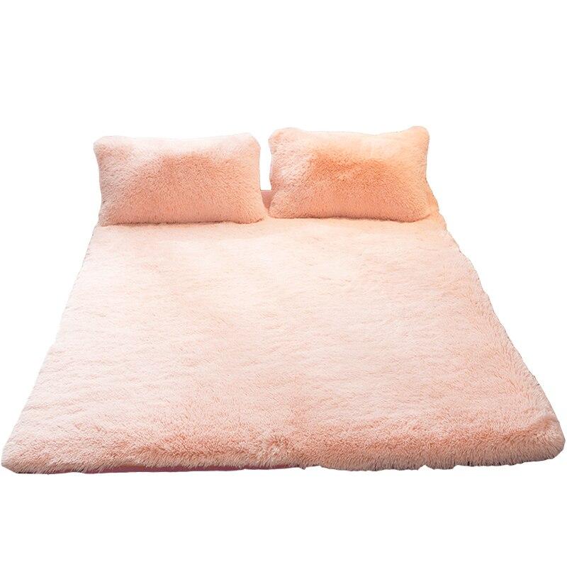 Floor tatami Foldable Plush Mattress Thickening Coral velvet  Soft Super Warm Fleece Cushion Dormitory Hotel Winter Bed Mat