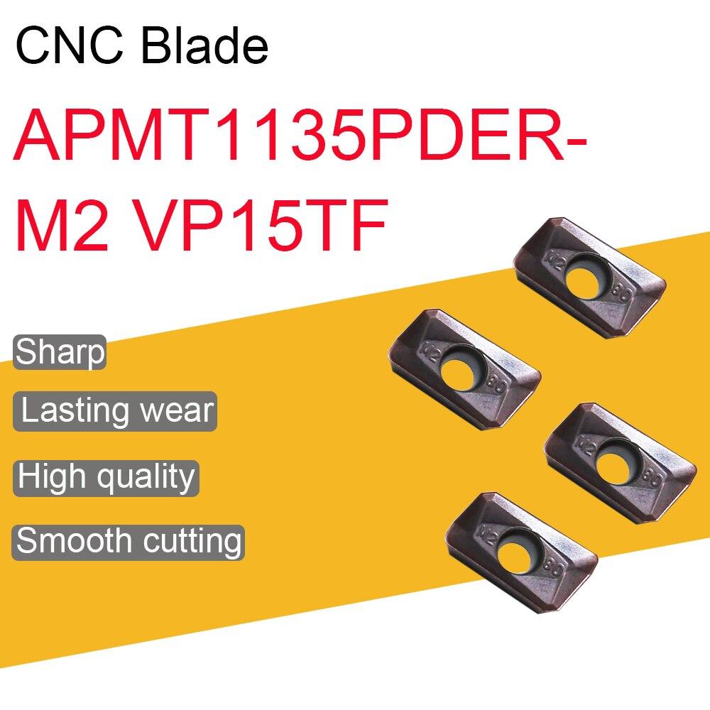 10PCS APMT1135PDER-M2 VP15TF 밀링 인서트 APMT11 고품질 CNC 선반 터닝 공구 기계 부속품