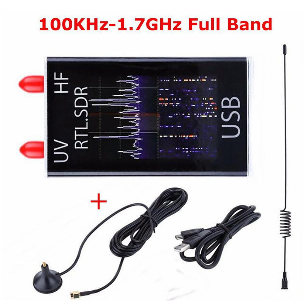 100KHz-1.7GHz كامل الفرقة الأشعة فوق البنفسجية HF RTL-SDR USB موالف استقبال/R820T + 8232 راديو هام