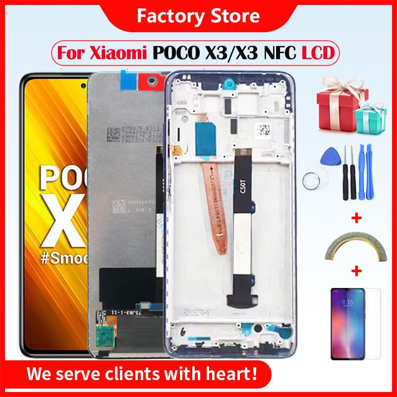 Original LCD For Xiaomi Poco X3 LCD With Frame Touch Screen Digitizer For Xiaomi Poco X3 NFC lcd Dis