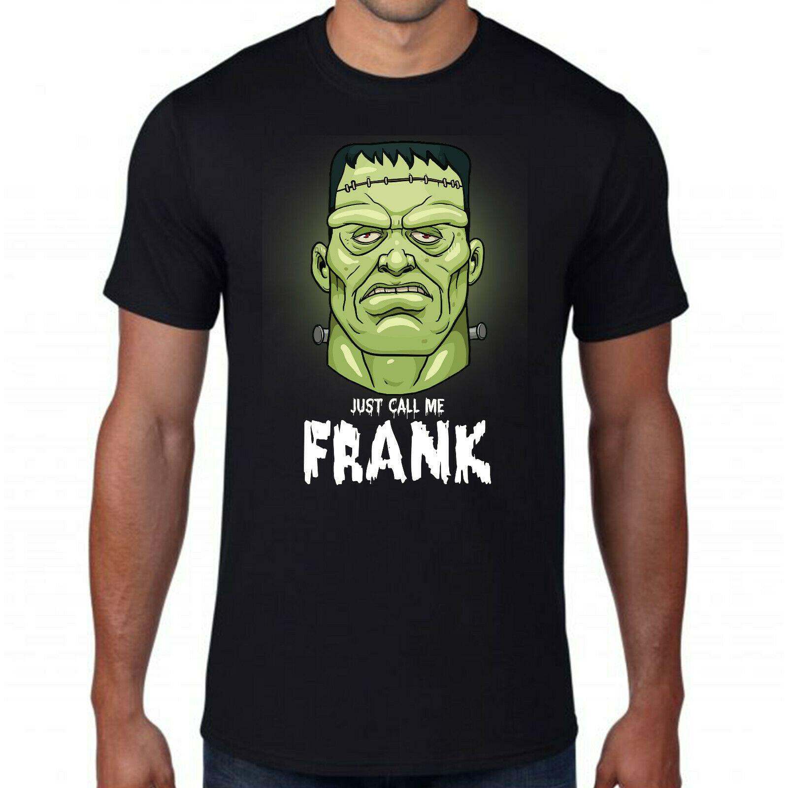 Camiseta con inscripción Just Call me Frank, para hombres y mujeres, verde Zombie videojuego, Frankenstein, Top para adultos, camiseta para culturismo
