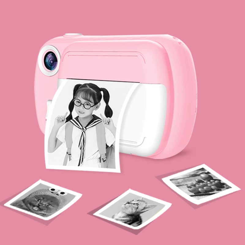 2021 Baby Hot Digital SLR Camera for Kids,1080p 12.0Million Pixels Thermal Instant Print Photo Toys Camera Video Children Toys