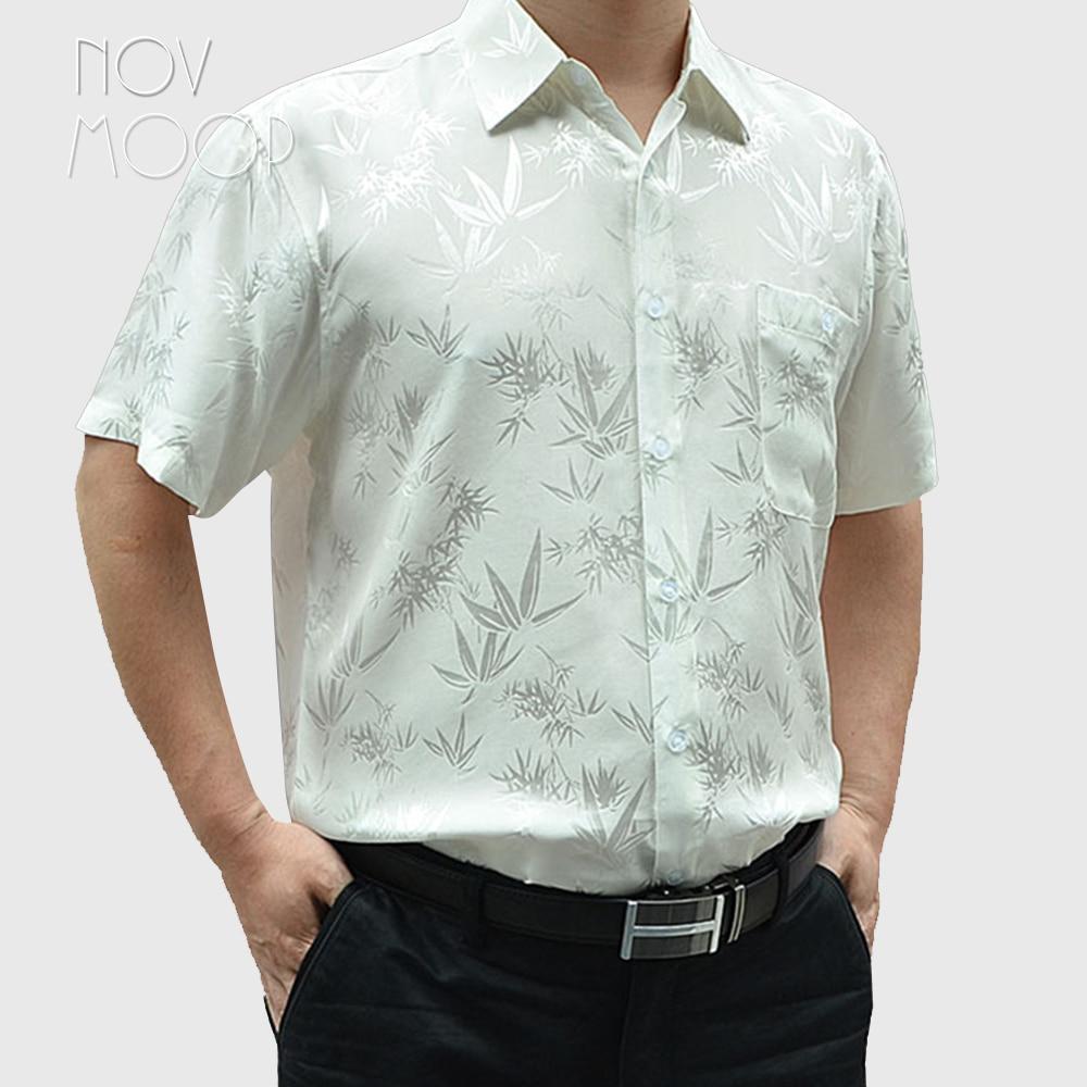 Camisas de negocios de seda de 100% para hombre, camisa masculina de...
