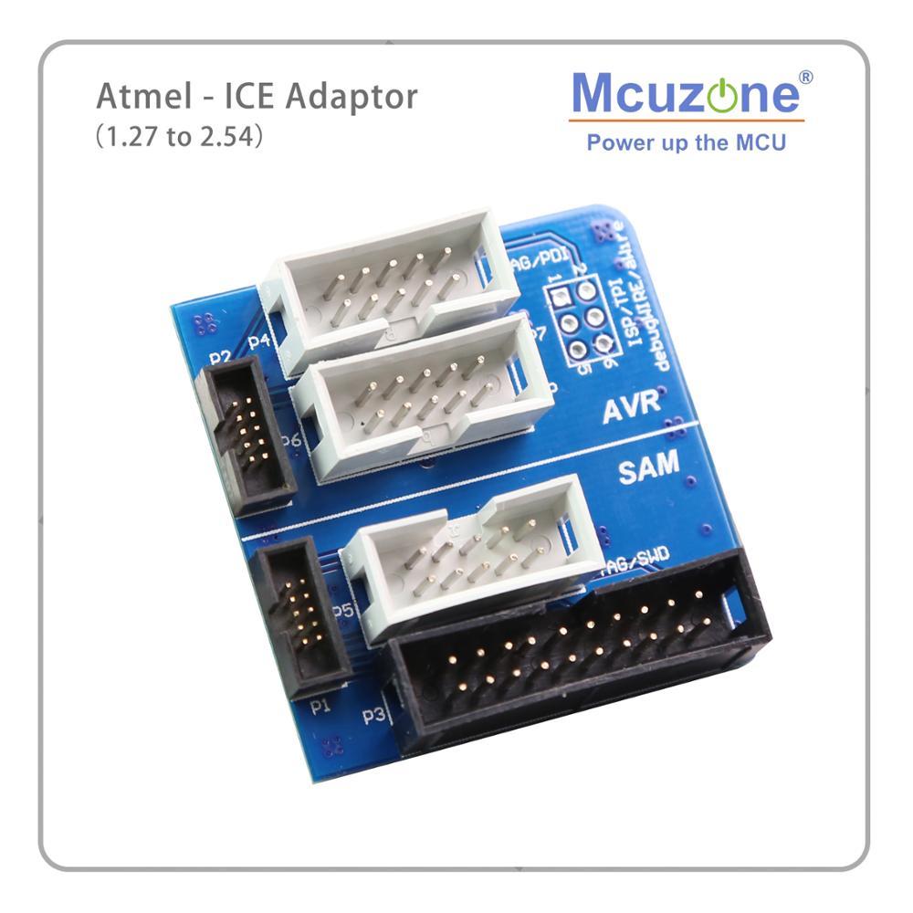 Mcuzone Atmel-hielo-Placa de 1,27 a 2,54 AVR(ISP JTAG PDI TPI) SAM (SWD JTAG) ATATMEL-ICE-ADPT Atmel-hielo Kit adaptador