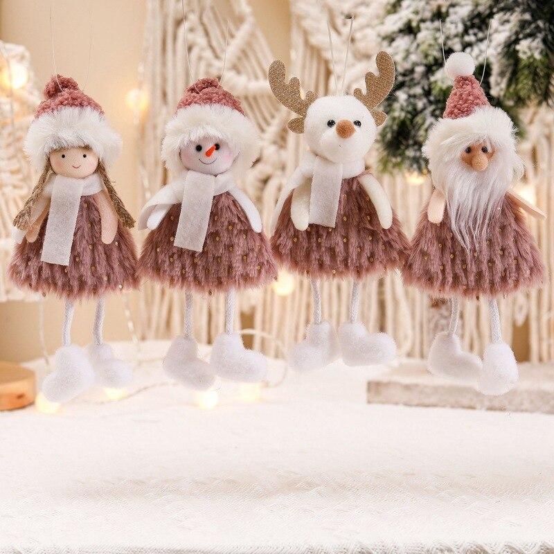 Рождественские украшения для дома Санта Клаус Лось дерево кулон Ангел куклы новогодний декоративные рождественские украшения adornos navidad noel