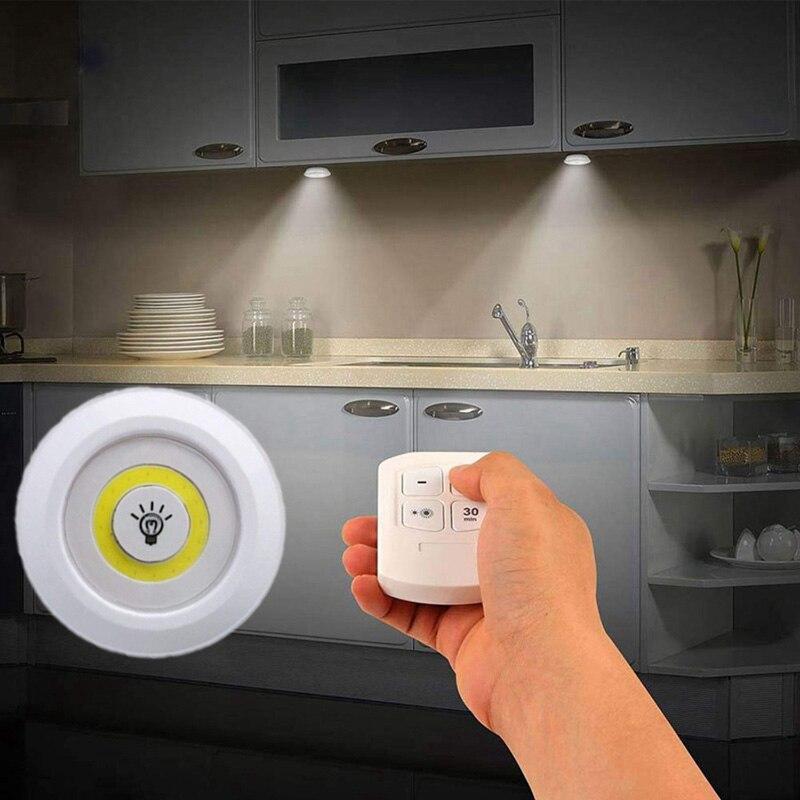 Luz táctil COB con Control remoto, nueva luz LED regulable para armario, luz nocturna remota inalámbrica, luces de pared