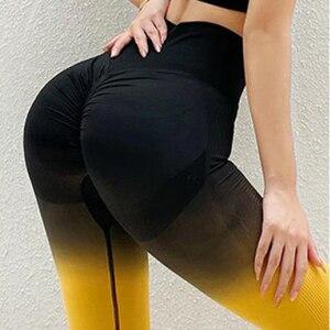Gradient Yoga Pants Push Up Leggings High Waist Body Shaper Long Shaping Pants  Women Gym Sport Fitness Running Yoga Leggings