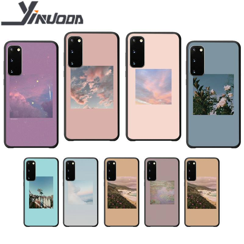 Funda de móvil con motivos estéticos naturales de lujo para Samsung galaxy S 7 8 9 10 20 Plus 20 Ultra Note8 9 10