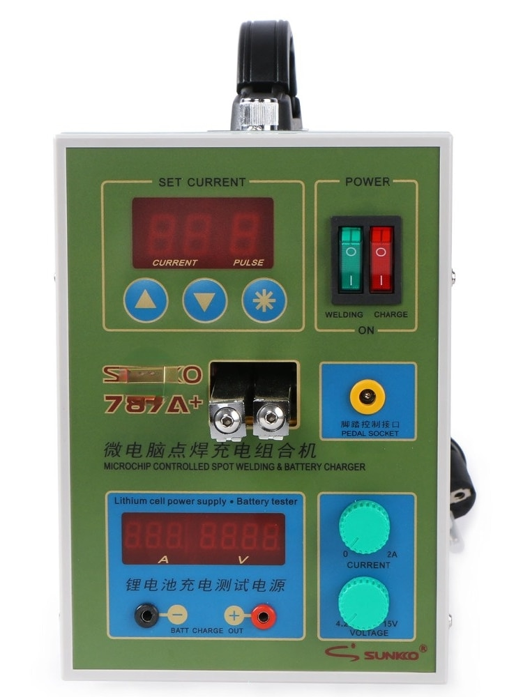 for 787A+ Spot Welder 18650 lithium battery test and charging 2in1 double pulse precision spot welding machine LED lighting enlarge