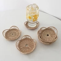 bamboo cup coaster placemats for table kitchen table mats kitchen accessories home decorations