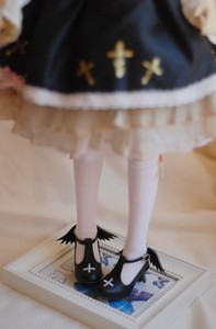 1/6 BJD doll shoes high heels shoes with wings suitable for 1/6 YOSD doll shoes black shoes white shoes doll accessories