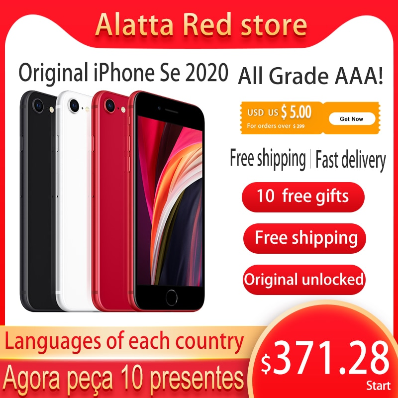 Genuine Original unlocked Apple iPhone Se 2020 128gb used Global version A13 iphone se2 cellphone Face ID Mobile smartphone