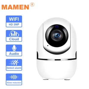 MAMEN Wifi IP PTZ Security Camera Indoor AI Human Auto Tracking Monitor Wireless Surveillance Camera Infrared Night Vision