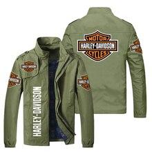2021 men's new zipper jacket spring and autumn slim print men's bombing jacket men's casual locomoti