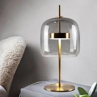 modern designer table lamp led lights glass desk lamps for study living room bedroom desk bedside lamp home decor light fixture