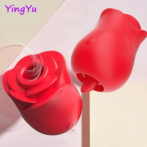 New Tongue Lick Vibrator For Women Intimate Goods Nipple Sucker Oral Licking Clitoris Stimulation Rose Like Adult Sex Toys