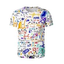 Funny 3d T shirt Mathematical formula Summer tshirt Streetwear 3D Tee Shirt men  oversized Soft T-shirt Math enthusiast clothes