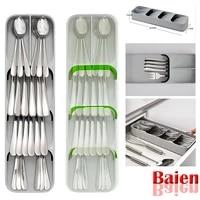 2pc compact cutlery spoon utensil tray drawer organizer insert storage store box spoon storage organizer