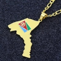 new trendy eritrea country map shape pendant necklace mens necklace metal sliding map pendant accessories party jewelry
