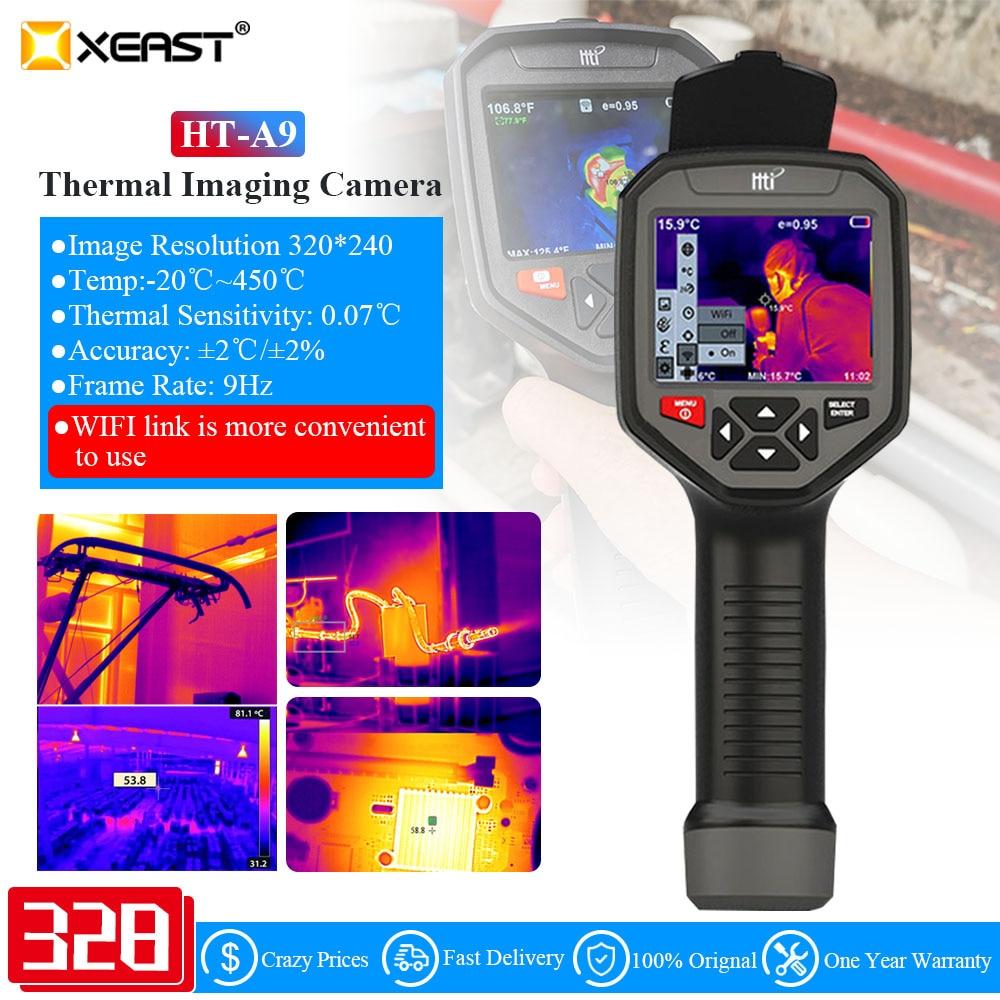 HT-A9 WIFI IR الأشعة تحت الحمراء الحرارية تصوير كاميرا المحمولة درجة الحرارة التلقائي تتبع الحرارية التصوير كاميرا قابلة للشحن HTA9