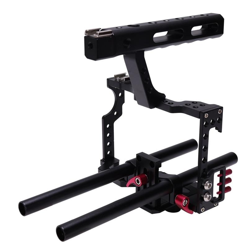 3c-antiderrapante design profissional kit de gaiola de vídeo da câmera dslr cnc estabilizador durável para gh4 a7s a7 a7r a7rii a7sii