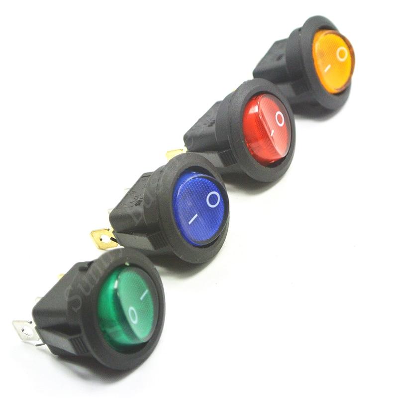3 uds 12V 24V 220V LED coche botón luces/interruptor para Kia Provo K9 Cruz Carens cachorro Trackster Ray K2 Naimo Pro Venga