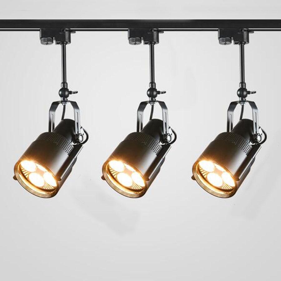 25 واط 35 واط خمر الفن الصناعية ضوء السقف الرجعية LED أضواء المسارات متجر الملابس مقهى متجر الأضواء سطح شنت النازل