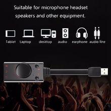 7,1 USB 2,0 Soundkarte Externe Mikrofon Audio Adapter Soundkarte USB zu Jack 3,5mm Kabel Adapter Für PC Laptop freies Stick