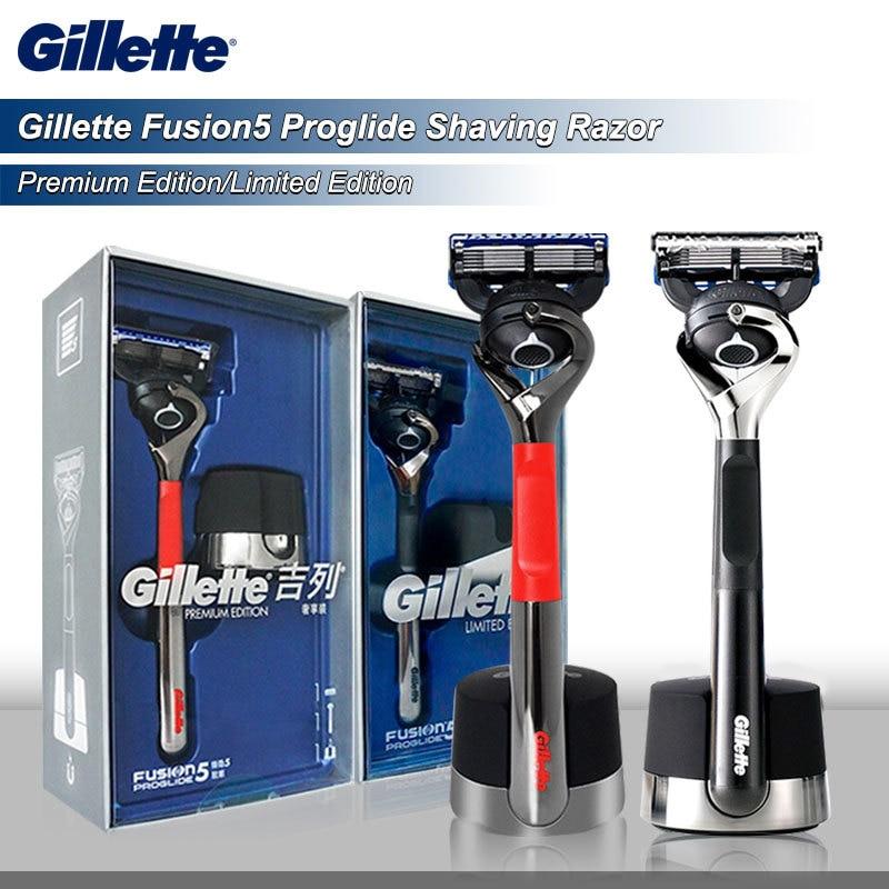 Premium para Homens Navalha de Barbear Cassetes com Lâmina Gillette Original Fusion Proglide Edição Limitada – Segurança Substituível 5