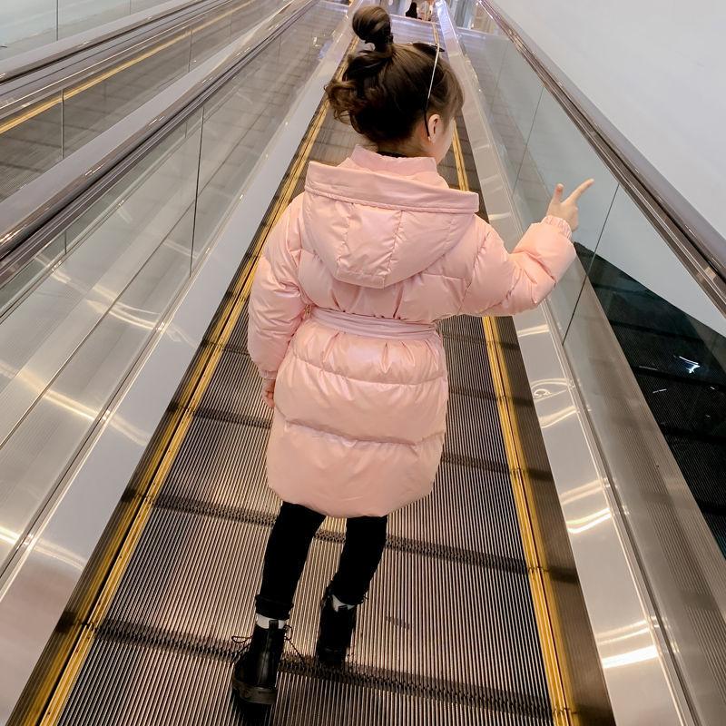 2021 Winter Children Coat for Girls White Duck Down Jacket Big Girls Mid-Length Snowsuit Teenage Girls Thick Warm Jacket D148 enlarge
