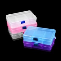 1pcs good quality 5 grids necklace beads earring case organizer plastic jewelry accessories storage for diy