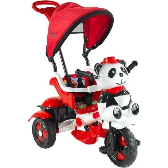 Panda Parent-Controlled Tricycle For Kids Bike Male Girl Toddler Training Protective Baby Scooter