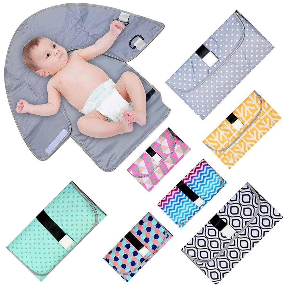 Newborn Baby Portable Diaper Pad Outdoor Waterproof Sheet Changing Foldable Nappy Mat for Girls Boys Impermeable