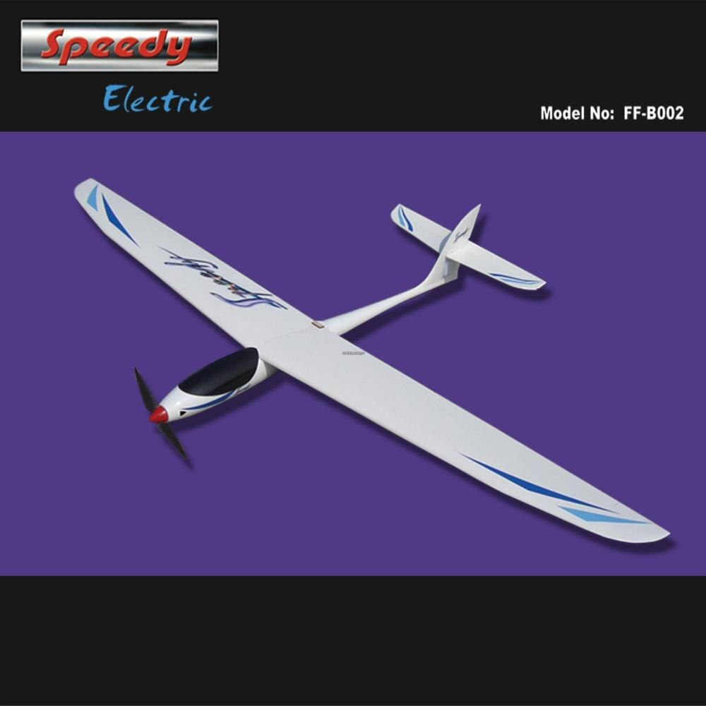 RC Fiberglass Model Sailplane Speedy Electric 1600mm ARF with Brushless Motor Folding Propeller 10x6 +Spinner