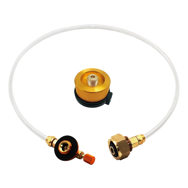 Outdoor Camping Gas Stove Propane Refill Adapter Tank Coupler Adaptor Charging Bottle LPG Flat Cylinder Converter Accessories