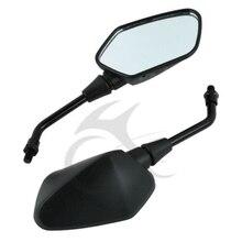 Motorcycle 10mm Black Rear View Side Mirrors For Kawasaki KLR250 KLR600 KLR650 HONDA CROSSRUNNER 800 2011 2012 2013