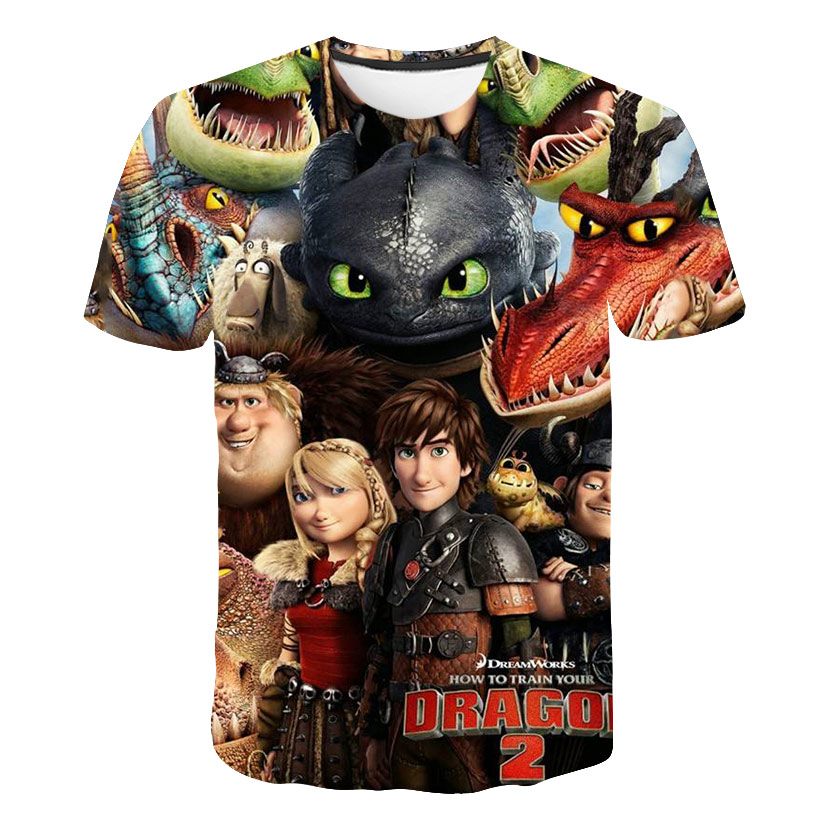 Summer Children Clothing How to Train-Your Dragon T-Shirt Baby Kids Clothes Boy And Girl Short Sleev
