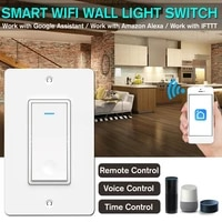 Interrupteur declairage mural intelligent Tuya Smart Life APP telecommande et commande vocale fonctionnent avec Alexa Google Home prise americaine