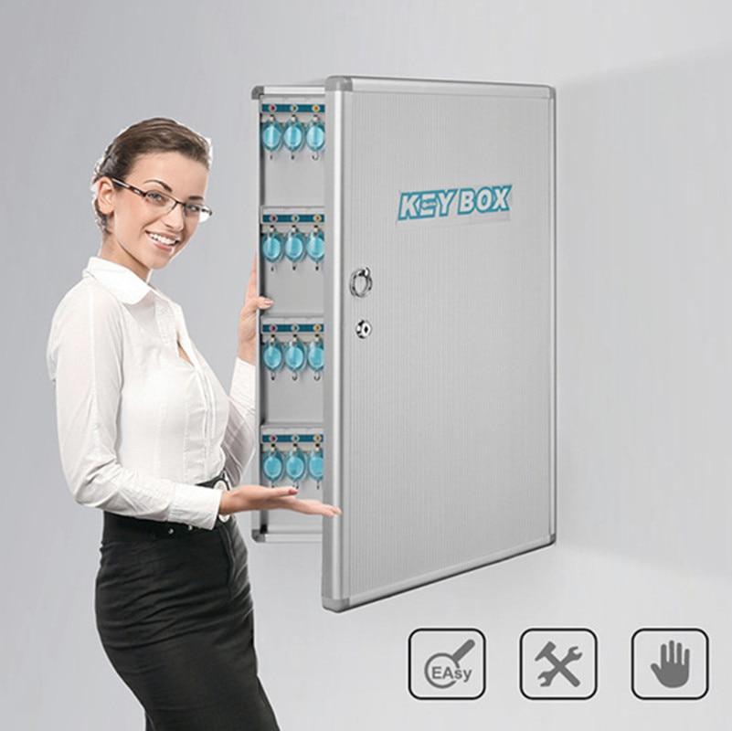 مفتاح حائط من الألومنيوم ABS ، صندوق مفاتيح حماية لأمن المنزل ، عنبر ، إدارة الودائع ، قفل الخزانة