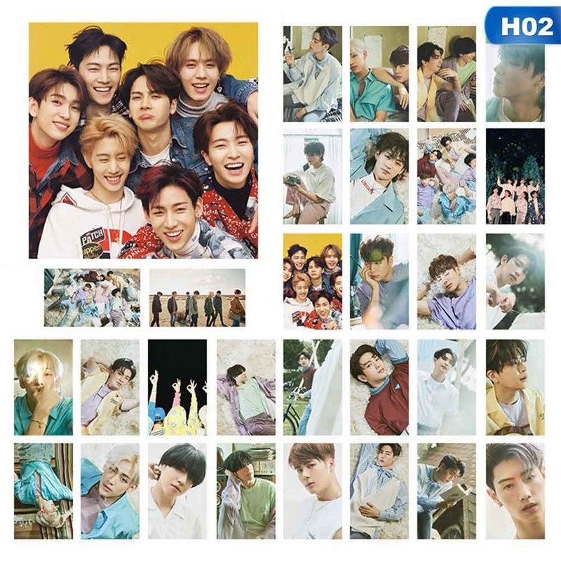 30 unids/set KPOP GOT7 álbum de papel autohecho póster Tarjeta de foto Lomo Tarjeta de fotografía Fans colección de regalos juego de papelería
