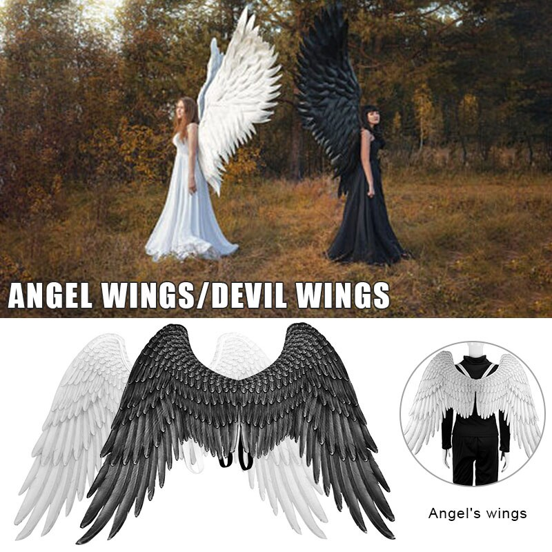 Фото - Halloween 3D Angel Devil Big Wing Carnival Party Performance Prop for Men Women TC21 wight angel halloween